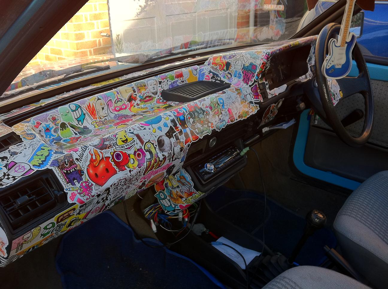 Sticker Bombing Dashboard Bodywork Interior And Trim