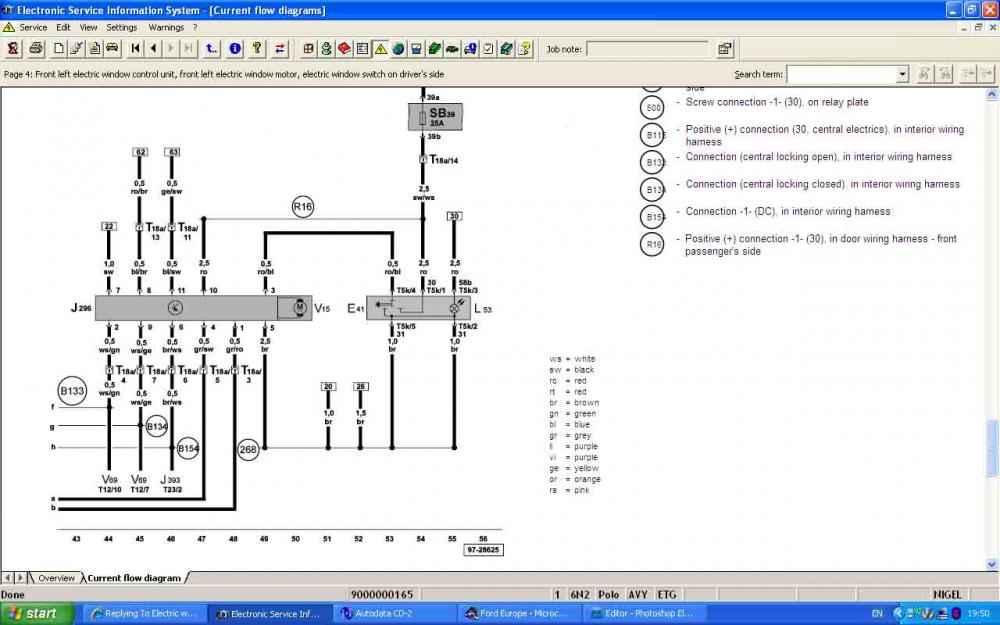 Vw polo n electric window wiring diagram