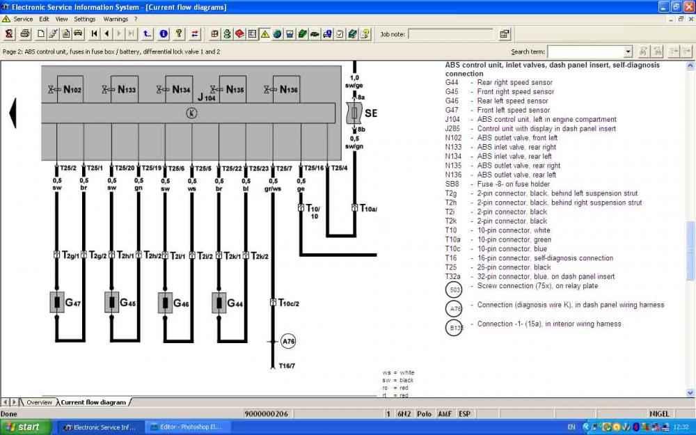6n2 Abs Light  Front Right Sensor