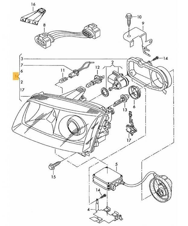 xenon headlights polo gti 6n2 problem